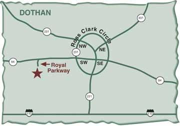 Robert trent jones golf trail highland oaks map for 360 salon montgomery al